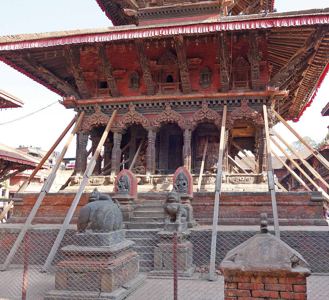 Durbar Square in the Patan region, which suffered from the Gorkha Earthquake