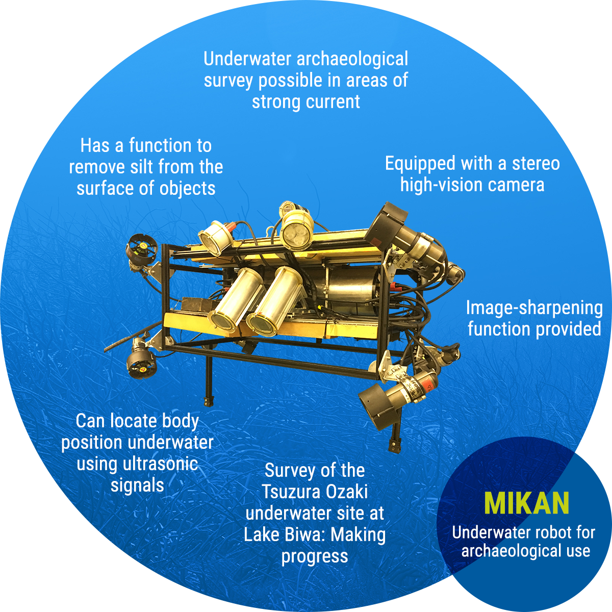 MIKAN: Underwater robot for archaeological use